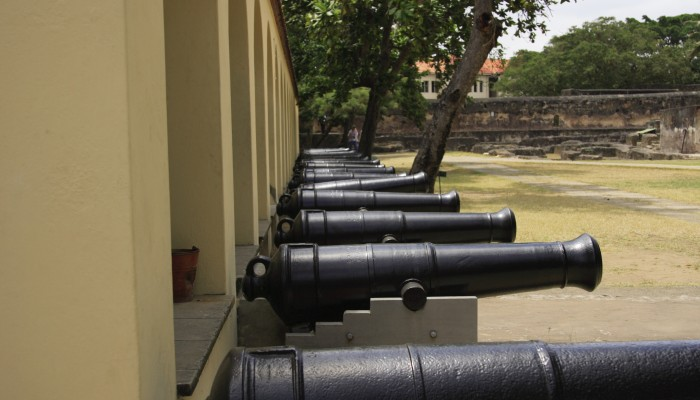 Cannons at Fort Jesus in Mombasa.