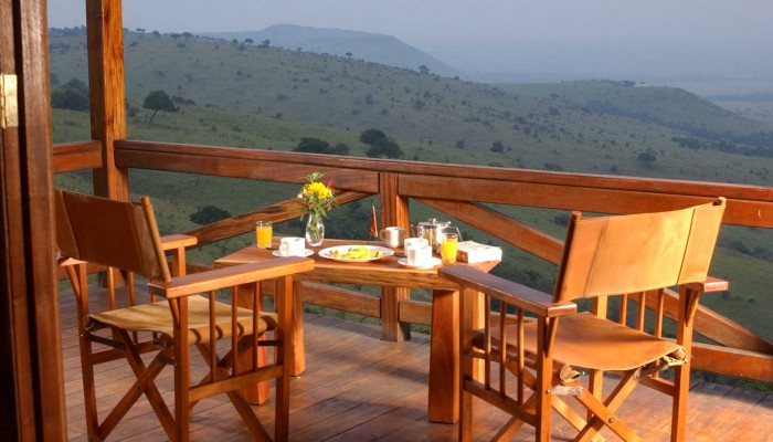 Breakfast on a chalet deck at Mara West Camp.