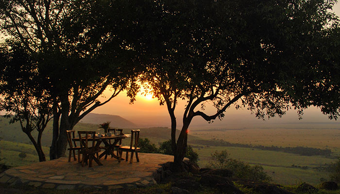 Watch the sun rise at Mara West Safari Camp