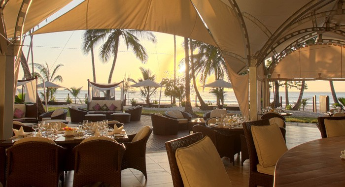 Dining at Almanara Diani Beach Resort.