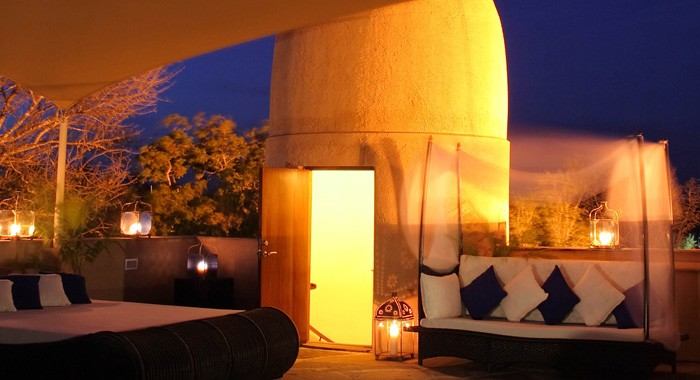 Warm relaxing ambiance at Almanara Diani Beach Resort.