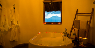 Enjoy warm baths at Tawi Lodge.