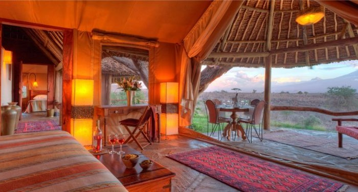 Exquisite accommodation at Tortilis Safari Camp.